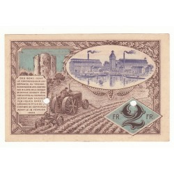 CHAMBRE  COMMERCE, SPECIMEN 2 FRANCS 16-12-1920 CORBEIL, PIROT 6