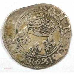 CHARLES IX – Double sol Parisis 1569 R Villeneuve