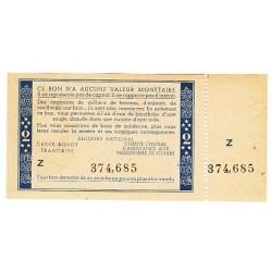 2 FRANCS BON DE SOLIDARITE PETAIN AVEC SOUCHE 1940 1944