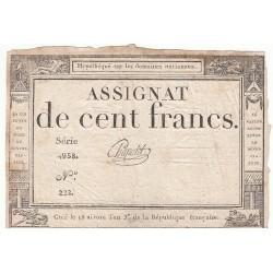 ASSIGNAT 100 FRANCS 18 NIVOSE AN III  SIGN CHAPOTOT