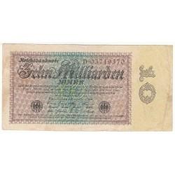 10 Milliarden Mark 15 Septembre 1923 Ros 113