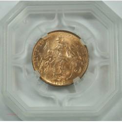 Daniel DUPUIS - 5 Centimes 1902 SPL MS 63 GENI