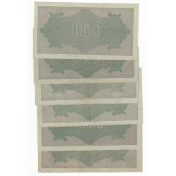 LOT DE 20 BILLETS ALLEMAND 1000 mark 1922