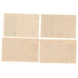 LOT DE 22 REICHSBANKNOTE 1 MILLION et 2 MILLIONEN MARK 1923