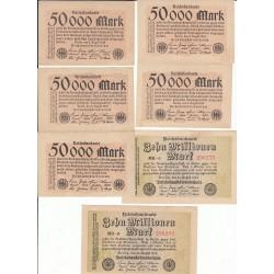 LOT 21 REICHSBANKNOTE DIVERS  1923