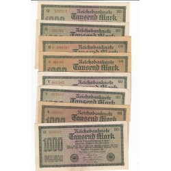 LOT DE 20 REICHSBANKNOTE 1000 MARK 1922