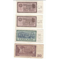 LOT 4 BILLETS 5 MARK 10 MARK 20 MARK 1964