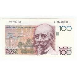 BELGIQUE 100 FRANCS BANQUE NATIONNALE