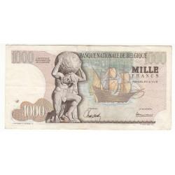 BELGIQUE 1000 FRANCS 1965
