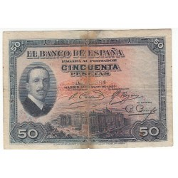 ESPAGNE 50 PESETAS 17 MAI 1927