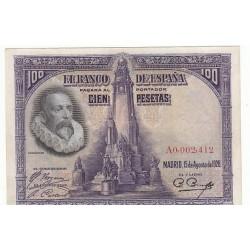 ESPAGNE 100 PESETAS 15 AOUT 1928