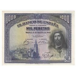 ESPAGNE 1000 PESETAS 1928 SPL