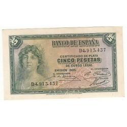 ESPAGNE 5 PESETAS 1935 NEUF