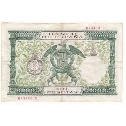 ESPAGNE 1000 PESETAS 1957