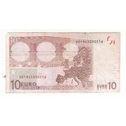ESPAGNE 10 EURO 2002 Alphabet G002 RARE