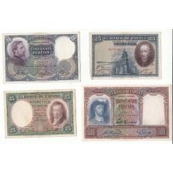 ESPAGNE LOT 12 BILLETS 1928 à 1936