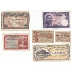 ESPAGNE LOT 14 BILLETS 1928 à 1936