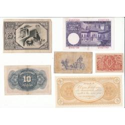 ESPAGNE LOT 14 BILLETS 1928 à 1954