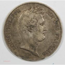 LOUIS PHILIPPE SANS I 5 FRANCS 1830 A PARIS TRANCHE EN CREUX F.313