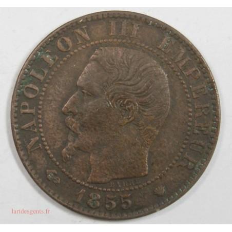 5 CENTIMES NAPOLEON III, TETE NUE  1855 MA Ancre  TB+   5C0025