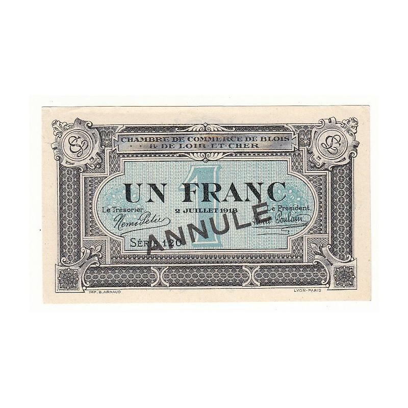 Acheter billet 1 franc chambre de commerce blois 1918 annule p neuf - Chambre de commerce de blois ...