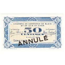 50 Centimes Chambre de Commerce Blois 1918 ANNULE NEUF