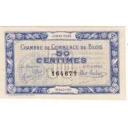 50 Centimes Chambre de Commerce Blois 1915 NEUF