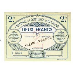 2 Francs Chambre de Commerce Béthune 1915 SPECIMEN P/NEUF