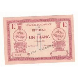 1 Franc Chambre de Commerce Béthune 1915 SPECIMEN p/NEUF