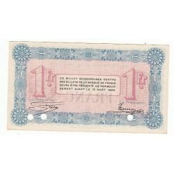 1 Franc Chambre de Commerce Annecy 1915 ANNULE NEUF