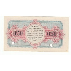 50 Centimes Chambre de Commerce Annecy 1916 ANNULE NEUF