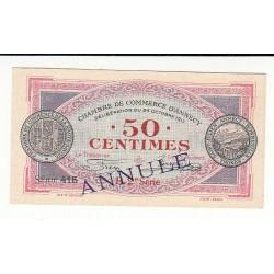 50 Centimes Chambre de Commerce Annecy 1917 ANNULE RARE