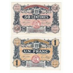 Lot de 2 Billets Chambre de Commerce Angoulème 1920