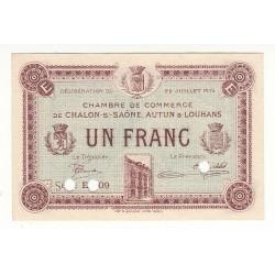1 Franc Chambre de Commerce Chalon s/Saône SPECIMEN NEUF Pirot 23