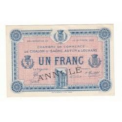 1 Franc Chambre de Commerce Chalon s/Saône ANNULE P/NEUF Pirot 11