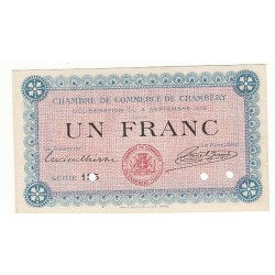 1 Franc Chambre de Commerce Chambéry SPECIMEN NEUF Pirot 3