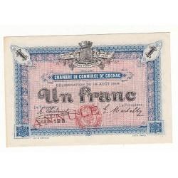 1 Franc Chambre de Commerce Cognac P/NEUF ANNULE Pirot 4
