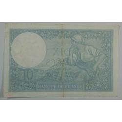 10 Francs MINERVE du 19-6-1941 ttb+