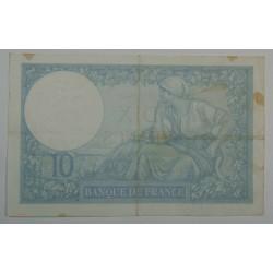 10 Francs MINERVE du 26-12-1940 TTB