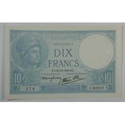 10 Francs MINERVE du 26-12-1940 TTB+