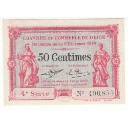 50 Centimes Chambre de Commerce de Dijon 1919 Neuf