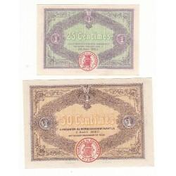 Lot de 2 billets Chambre de Commerce de Dijon Neuf Pirot 1 et 23