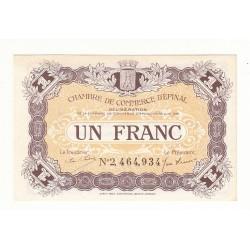 1 Franc Chambre de Commerce d' Epinal 1921 Neuf Pirot 14