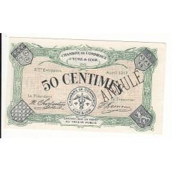 50 Centimes Chambre de Commerce d' Eure et Loir NEUF ANNULE Pirot 6