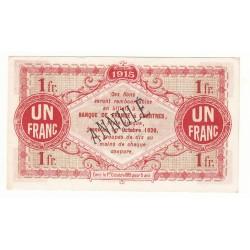 1 Franc Chambre de Commerce d' Eure et Loir NEUF ANNULE Pirot 4