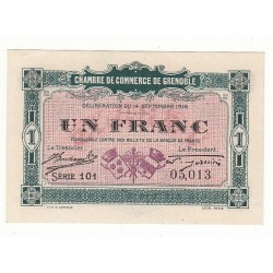 1 Franc Chambre de Commerce de GRENOBLE NEUF Pirot 6 ou 8