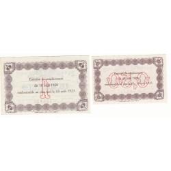 Lot de 2 billets Chambre de Commerce du HAVRE Pirot 26 et 28