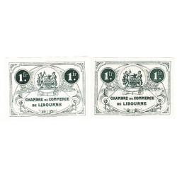 Lot de 2 billets Chambre de Commerce de LIBOURNE Pirot 33 et 36