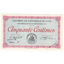 50 Centimes Chambre de Commerce de LURE  NEUF ANNULE Pirot 5