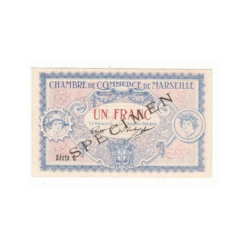 Acheter billet 1 franc chambre de commerce de marseille specimen neuf pirot 65 - Chambre de commerce marseille ...